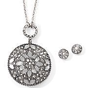 Liz Claiborne Jewelry Set, Marcasite - JCPenney :) Marcasite Jewelry, Liz Claiborne, Handbag Accessories, Pendant Necklace, Jewellery, Handbags, Purses, Shopping, Design