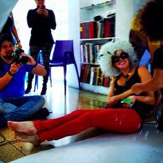 Del otro lado de la camara!. #anibalmes  tre #fotografo demoda @elisamercedes #stylist #tia de Mia y la bella #Mia by ushuva
