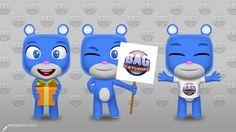 Cute bear character design by Horacio Velozo on Behance #character #3d #render #bear #3d #c4d #behance #blue #kawaii