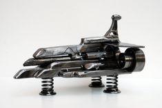 Handmade spaceship sculpture /  spaceship art / Spacecraft / Space shuttle art sculpture Metal Art Sculpture, Sculptures For Sale, Art For Sale, Unique Jewelry, Handmade Gifts, Artist, Etsy, Vintage, Kid Craft Gifts