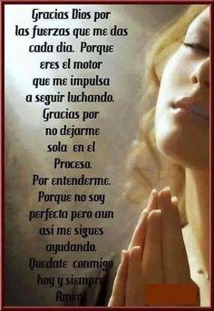 God Prayer, Prayer Quotes, Faith Quotes, Amor Quotes, Spanish Inspirational Quotes, Spanish Quotes, I Love You God, Gods Love, Spanish Prayers