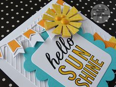 Card by Jen del Muro. Reverse Confetti stamp set: Shine Bright. Confetti Cuts: Sun 'n Clouds, Double Banner Garland, Class Act and Love Note. Friendship card. Any Occassion card. Encouragement card.