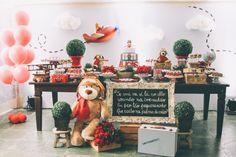 tema para festa de aniversário: urso aviador