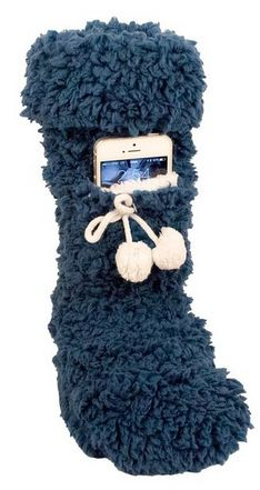 These look so comfy and warm! Super Fluff Cell Phone Sock Scented with Lavender