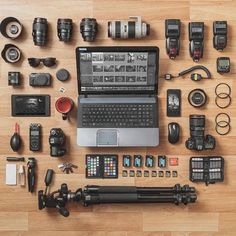 When you pack light  #Sweet #flatlay #gear shot by @marko255 Tag a photographer
