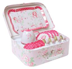 tiger tribe   vintage tin tea set, if the baby is a girl one of the most important things is a tea set!
