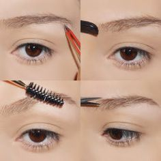 Brow maintenance using Tweezerman tools
