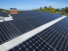 A Clean Solar Residential Installation with a Tilt-racking of a SunPower system