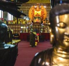 picture Jewelled Hall at the City of 10,000 Buddhas in Ukiah California