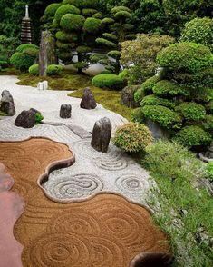 Asian Garden, Japanese Garden Backyard, Modern Japanese Garden, Japanese Garden Landscape, Japanese Gardens, Zen Garden Design, Landscape Design, Patio Design, Modern Landscaping