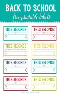 Back to school free printable labels #TGIBTS #ad