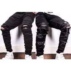 Now Available For Order Very Limited Black Destroyed Denim By @TaintedNY Only On TaintedNY.com International Shipping Available