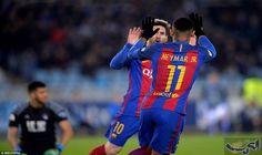 برشلونة يفك عقدته ويقطع شوطاً نحو نصف…