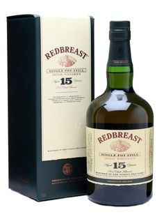 A sumptuous single pot still whiskey with a great degree of ageing, Redbreast 15 is richer, earthier and stronger than its 12 year old sibling. An essential part of any whiskey-drinker's education. Whiskey Gifts, Scotch Whiskey, Bourbon Whiskey, Bourbon Drinks, Strong Drinks, Pot Still, Home Brewing Beer, Single Malt Whisky, Wine And Spirits