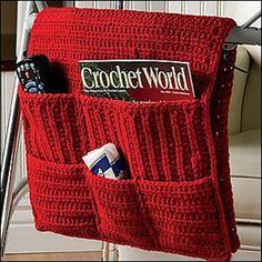 Crochet Purses Patterns Walker Caddy pattern by Debra Arch - Crochet World, Crochet Home, Love Crochet, Crochet Gifts, Knit Crochet, Beautiful Crochet, Easy Crochet, Purse Patterns, Knitting Patterns