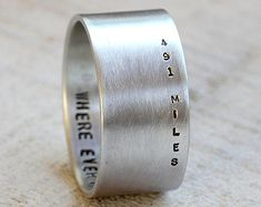Men's personalized ring by PraxisJewelry on Etsy