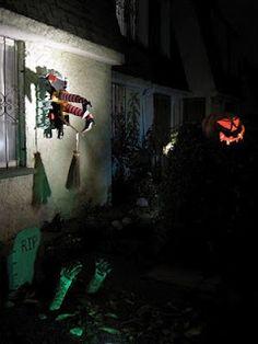 Decoracion del jardin Halloween 2010