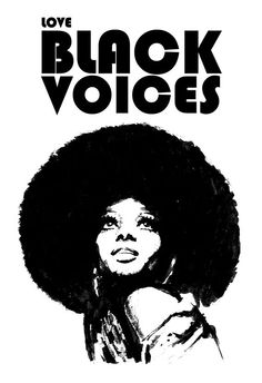 LOVE BLACK VOICES - DIANA ROSS - SOUL - R&B - MUSIC POSTER - FINE ART PRINT