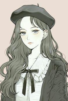 New illustration art girl anime draw Ideas Pretty Anime Girl, Beautiful Anime Girl, Anime Art Girl, Manga Art, Anime Girls, Anime Girl Drawings, Anime Couples Manga, Chica Anime Manga, Anime Chibi