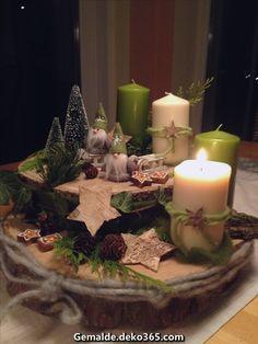 "My ""Advent wreath"" # advent wreath # wood # Wichtel # birch star # Christmas tree - Decoration is My Job Centerpiece Christmas, Christmas Advent Wreath, Noel Christmas, Christmas Candles, Rustic Christmas, Xmas Decorations, Christmas Crafts, Diy Advent Wreath, Nordic Christmas"