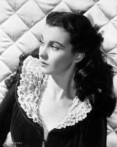 Publicity shot of Vivien Leigh as Scarlett O'Hara from Gone With the Wind (1939).