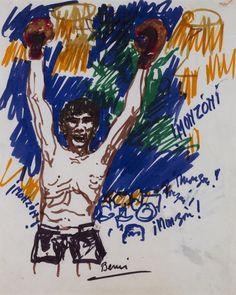 Sin título, 1977- Marcador sobre papel - © José Antonio Berni y Luis E. De Rosa