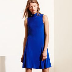 Jersey Mockneck Dress - Lauren Short - RalphLauren.com