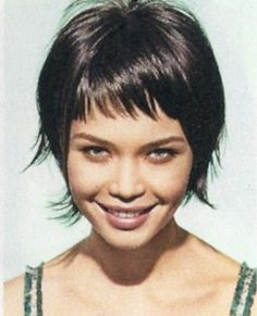 Oh my gosh...cutest hair ever! :) Cute Choppy Short Length Pixie Bang Shag Haircut