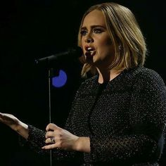 Adele performing at X-Factor Final
