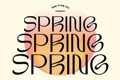 TAN-SPRING by TanType on @creativemarket