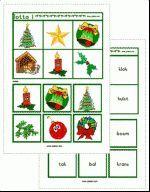 Lotto Kerst - plaatjes + woorden