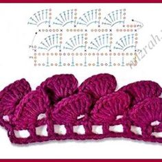 je ne peux ouvrire cette page enplus grand, j'e=aimerai faire ce pointHow to crocodile stitch crochet free pattern c k crafts – ArtofitDragon scales or leaves.Crochet stitch symbols and types for different patterns in work Guêtres Au Crochet, Crochet Motifs, Crochet Borders, Crochet Diagram, Crochet Stitches Patterns, Crochet Chart, Love Crochet, Beautiful Crochet, Crochet Designs