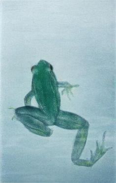 Mikio Watanabe. Un Beau Matin. Mezzotint (with color). 2009. 61/90. 4 3/4 x 3 inches.