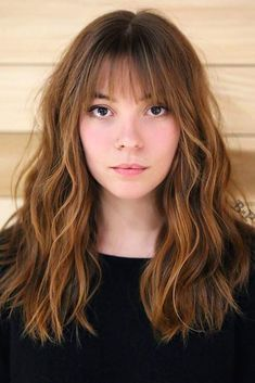 20 Cute Haircuts for Oval Faces Luscious Locks With Wispy Bangs How To Cut Bangs, Long Hair With Bangs, Long Hair Cuts, Wispy Bangs, Thick Hair Bangs, Front Bangs, Wispy Hair, Medium Hair Cuts, Medium Hair Styles