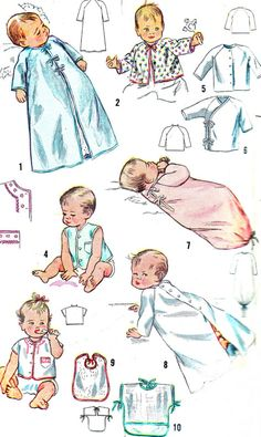 1940s Baby Layette Vintage Sewing Pattern by paneenjerez on Etsy, $14.00