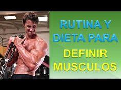 Dieta Para Definicion Muscular - http://ganarmusculoss.blogspot.com  Dieta y rutina para definir musculos para que consigas el cuerpo marcado que deseas. La rutina definicion es para que entrenes 4 días a la semana y los demás días debes descansar o puedes realizar ejercicio cardiovascular si quieres.