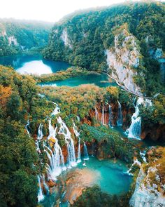 Plitvice Lakes has too many waterfalls to count! 💦 What a magical place 😍 Plitvice Lakes National Park, Croatia. Jotunheimen National Park, Plitvice Lakes National Park, Beautiful Places To Travel, Cool Places To Visit, Places To Go, Wonderful Places, Beautiful Waterfalls, Beautiful Landscapes, Bali Waterfalls