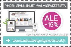 Kotisivut & Nettisivut yritykselle. Tarjous voimassa 31.3.2016 asti