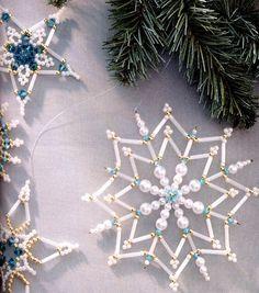 Снежинки к новому году / Новогодние изделия / Biserok.org