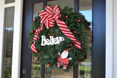 Wreath with 'believe.'