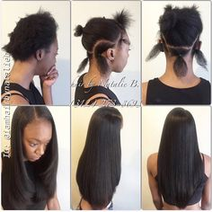 Traditional Sew-In Hair Weave w/ Leave-Out by Natalie B. (312) 273-8693  IG: @iamhairbynatalieb FB: Hair by Natalie B.