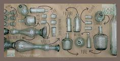 Vidrios San Miguel - вазы и бутыли из цветного стекла (Испания).