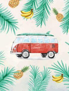 Poster - Kombi tropical