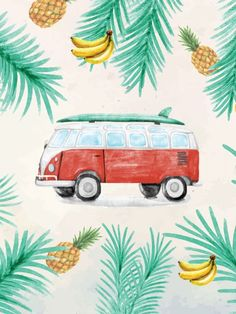 Poster - Kombi tropical