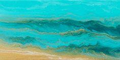 "The Sea Cried Out-Mini #3 by  Coastal Living Art Acrylic ~ 6"" x 12"""