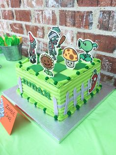 Plants vs Zombies Birthday Party- awesome details with Etsy links Zombie Birthday Cakes, Zombie Birthday Parties, Zombie Party, Birthday Party Games, 8th Birthday, Birthday Party Decorations, Party Favors, Birthday Ideas, Plants Versus Zombies