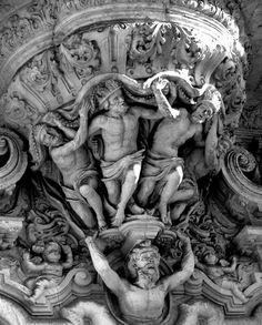 Detalle de la puerta del Palacio de San Telmo (Sevilla)