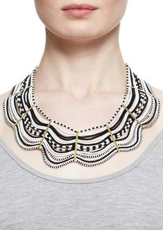 Pattern reminds me of the Traditional Colombian hat called Sombrero Vueltiao Beaded Collar, Collar Necklace, African Accessories, Fashion Accessories, Jewelery, Jewelry Necklaces, Ring Bracelet, So Little Time, Designer Collection