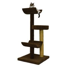 "Molly and Friends 54"" Bed and Cradle Cat Tree Color: Off-White, Poles Color: Off-White"