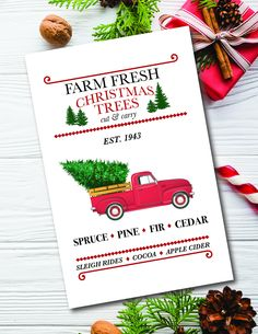 There are loads of new cards to see in the S&Y store! Christmas Tree Cutting, Fresh Christmas Trees, Christmas Holidays, Nursery Wall Art, Wall Art Decor, Y Store, Vintage Red Truck, Holiday Greeting Cards, Printable Cards